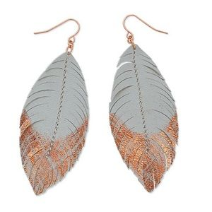 Light As A Feather earrings - rose gold/gray